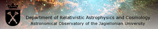 Department of Relativistic Astrophysics and Cosmology